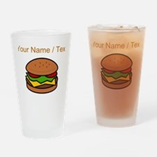 Custom Hamburger Drinking Glass