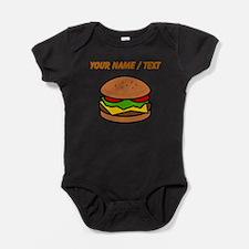 Custom Hamburger Baby Bodysuit