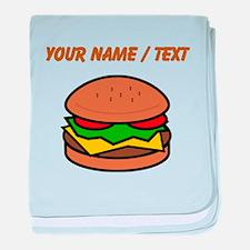Custom Hamburger baby blanket