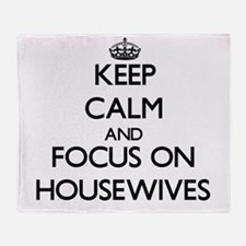 Funny Housewives Throw Blanket