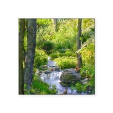 """Down by the Creek Square Sticker 3"""" x 3"""""""