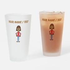 Custom Nerd Girl Drinking Glass