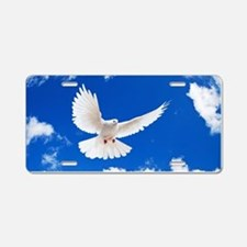 Purity Dove Aluminum License Plate