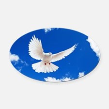 Purity Dove Oval Car Magnet
