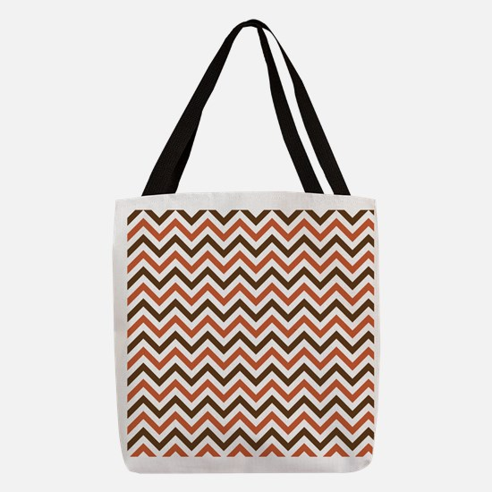 Fall Chevron Polyester Tote Bag