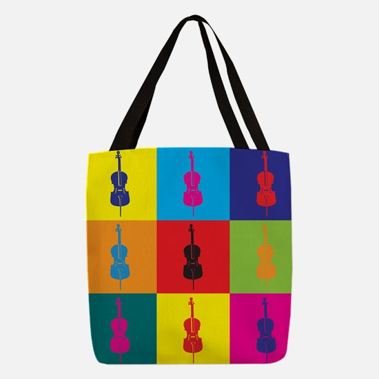 wg070_33_Cello-Player Polyester Tote Bag