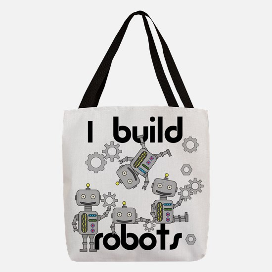 I Build Robots Polyester Tote Bag