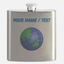 Custom Oceana Globe Flask