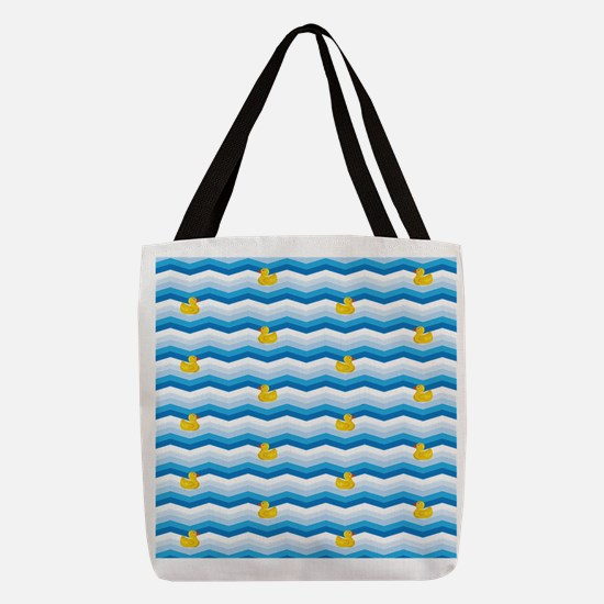 Duck Duck Duck Pattern Polyester Tote Bag