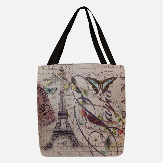 butterfly vintage robin paris b Polyester Tote Bag