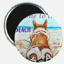 Corgi Beach Magnets
