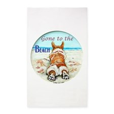 Corgi Beach 3'x5' Area Rug