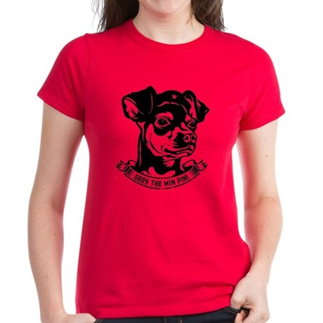 Obey the Min Pin! icon Women's Dark T-Shirt