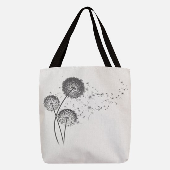 Dandelion Wishes Polyester Tote Bag
