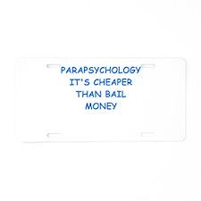 parapsychology Aluminum License Plate