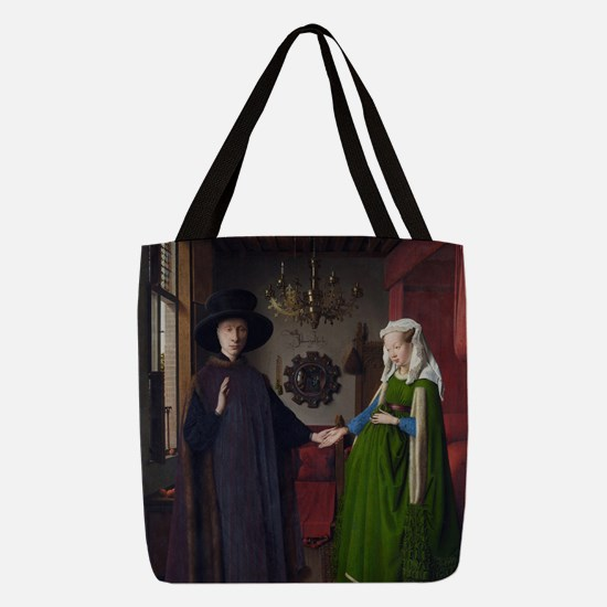 Arnolfini Marriage (by Jan van  Polyester Tote Bag