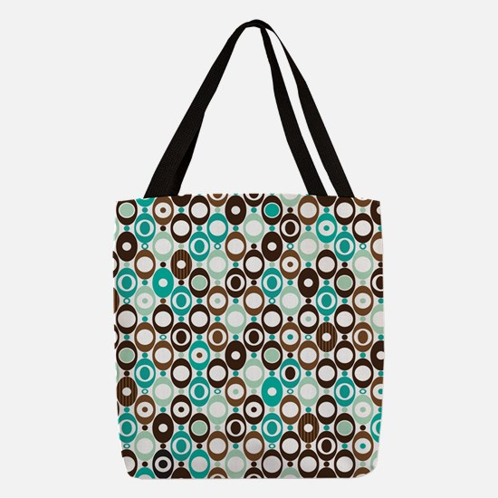 Retro Circles Polyester Tote Bag