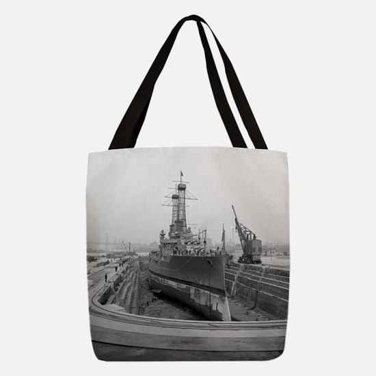Brooklyn Navy Yard Dry Dock Polyester Tote Bag