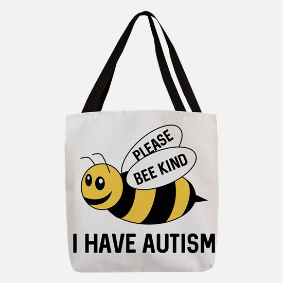 AutismBeeKind2A Polyester Tote Bag