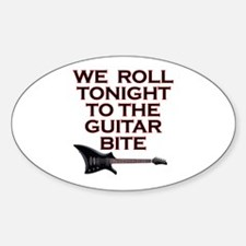 Guitar Bite - 2 Oval Decal
