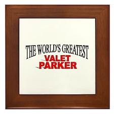"""""""The World's Greatest Valet Parker"""" Framed Tile"""