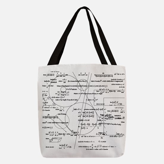 math bits Polyester Tote Bag