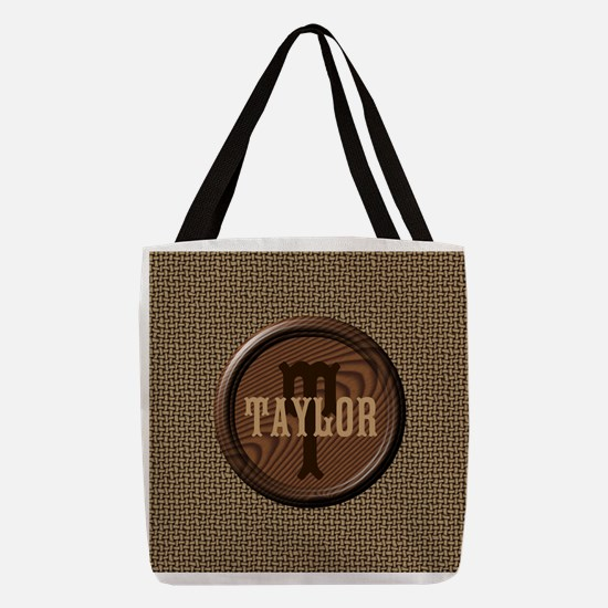 Customizable Monogram Polyester Tote Bag