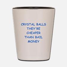 crystal ball Shot Glass