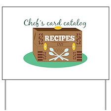 Chefs Card Catalog Yard Sign