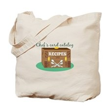 Chefs Card Catalog Tote Bag