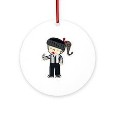 Referee Girl Ornament (Round)