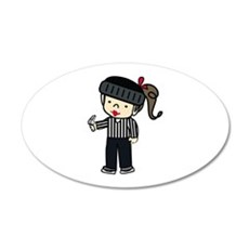 Referee Girl Wall Decal