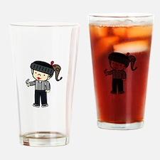 Referee Girl Drinking Glass