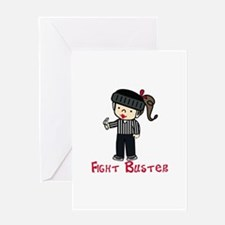Fight Buster Greeting Cards