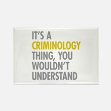 Its A Criminology Thing Rectangle Magnet