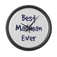 Funny Mailman Large Wall Clock