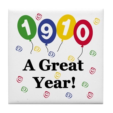 1910 A Great Year Tile Coaster
