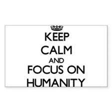 Keep Calm and focus on Humanity Decal