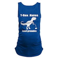 TRex Hates Hand Grenades Maternity Tank Top