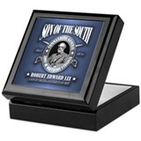 Robert e lee Square Keepsake Boxes