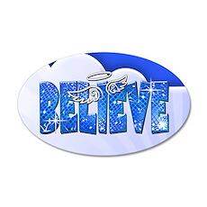 Believe Glitter 22x14 Oval Wall Peel