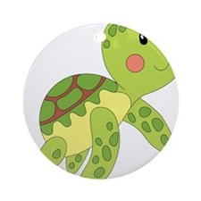 Baby Floating Turtle Ornament (Round)
