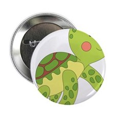 """Baby Floating Turtle 2.25"""" Button"""