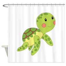 Baby Floating Turtle Shower Curtain