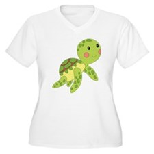 Baby Floating Turtle Plus Size T-Shirt
