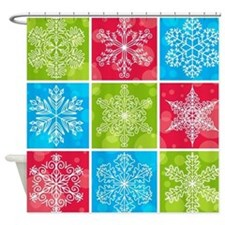 Snowflake Solstice Shower Curtain