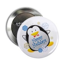 "Penguin Holiday 2.25"" Button"