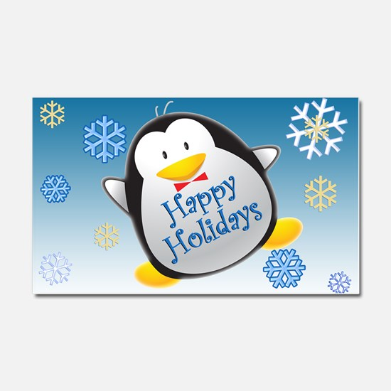 Penguin Holiday Car Magnet 20 x 12