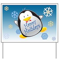 Penguin Holiday Yard Sign