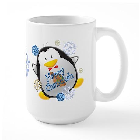 Penguin Chanukah Large Mug